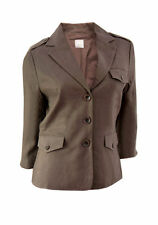 Linen Casual Button Coats & Jackets Blazer for Women
