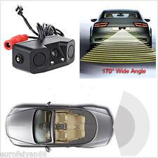 12V 3In1 Car 170° Parking Radar Sensor CMOS Reversing Backup Camera Night Vision
