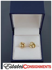 Tiffany & Co 18k Yellow Gold Love Knot Earrings