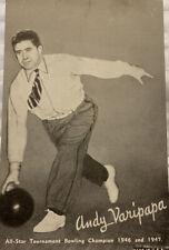 1940's Andy Varipapa Bowling Exhibition Card Collectible Photo