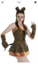 TIGERESS TIGER  FANCY DRESS LADY COSTUME HALLOWEEN Small
