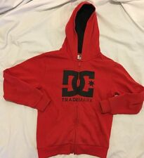 DC SHOE CO. HOODIE ZIPPER SIZE SMALL YOUTH RED SURF & SKATE RVCA VOLCOM LRG KR3W