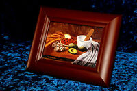Framed Giclee Miniature on canvas of the Kitchen Still Life oil painting