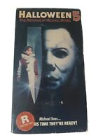 Halloween 5 The Revenge Of Michael Myers Original 1990 Cover VHS CBS FOX video