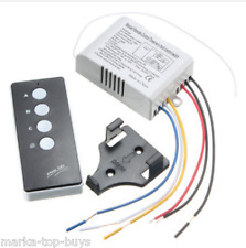 220v wireless ON/OFF 3 Way LAMP LIGHT remote control switch Receiver trasmettitore
