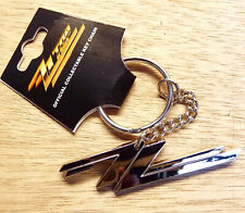 ZZ TOP   - BEAUTIFUL OFFICIAL KEYCHAIN - FAMOUS ZZ TOP LOGO - 2013 - NEW + TAGS
