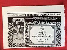m6-9b ephemera 1970s film advert a touch of class glenda jackson segal
