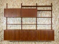 60er 70er Jahre Teak Teakholz Regal Wall Unit Cado Poul Cadovius Danish Design