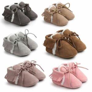 Newborn Baby Boy Girl Moccasins Shoes Fringe Soft Soled Non-slip Footwear Crib S