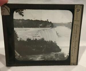 Antique Glass Negative #3152 American Niagara Falls Goat Island Kilburn Brothers