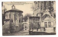 saint-émilion  portail de l'église monolithe et chapelle de l'hermitage