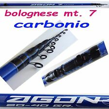 canna bolognese 7 mt carbonio pesca mare fiume lago galleggiante passata metri 7