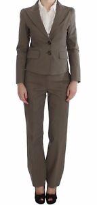 NEW BENCIVENGA Suit Blazer Pants Set Beige Wool Cotton s. IT48 / US14 / XL