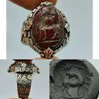 Silver wonderful Ring Roman agate intaglio stone rare Ring   1
