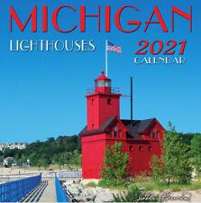 2021 Michigan Lighthouses Wall Calendar- 12x12