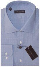 NEW IKE BEHAR BLUE & WHITE MICRO DOBBY CLASSIC FIT DRESS SHIRT 17 34/35
