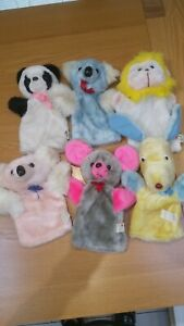 VINTAGE C&A store set of 6 soft hand puppets Collectable RARE