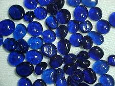 10 LB  COBALT COBAL BLUE LUSTER FLAT GLASS MARBLES GEMS, VASE FILLERS,   $21.88