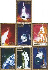 Ajman 1014A-1020A (kompl.Ausg.) gestempelt 1971 Apollo 16 EUR 1,20