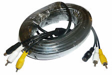 15 Metre Twin Video and Power Cable for Twin Motorhome Rear View Cameras