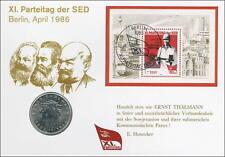 D-036 DDR-Numisbrief XI. Parteitag der SED