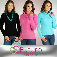 Warm Classic Women's Turtleneck Sweater  Very Soft Stretchy Jumper FR11