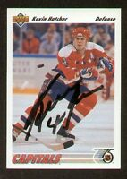 Kevin Hatcher signed autograph auto 1991-92 Upper Deck Hockey Card