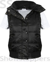 NEW Womens QUILTED GILET Ladies BODYWARMER JACKET Black Navy Size 6 8 10 12 14