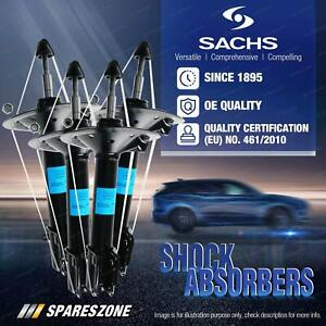 Front + Rear Sachs Shock Absorbers for Toyota Kluger GSU40R FWD 3.5L Wagon 07-10