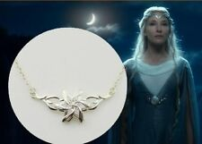 NEW Lord of The Rings The Hobbit LADY GALADRIEL FLOWER PENDANT NECKLACE