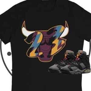 Jordan Retro 6 Bordeaux 23 Bull Sneaker Matching T Shirt, cotton, size s-3xl