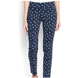 Orvis Slim Stretch Ankle Pants 10 Blue Floral