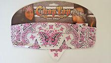 Pink Butterfly Doo Rag Wrap Biker Bandanna Wrap Head Wrap Sweatband