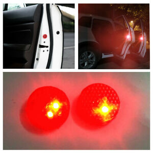 2Pcs Car Door Warning Light LED Wireless Anti-collision Waterproof Warning Lamp