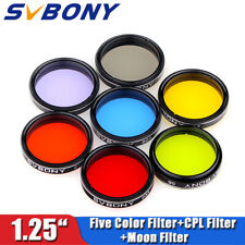 "Brand 1.25"" Eyepiece Filters Sets Colored Planetary & Moon Telescope Filters Kit"