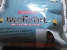 The Inflate & Take inflatable 24 cupcake carrier On the Go Wipe Clean fold Flat