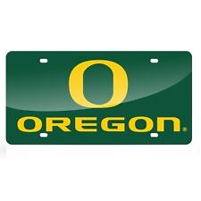 Oregon Ducks Green Mirrored Laser Cut License Plate Laser Tag