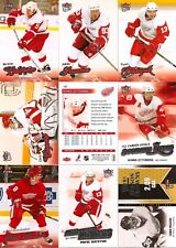 2008-09 UD Fleer Ultra Detroit Red Wings Master Team Set w/ RC's (18)