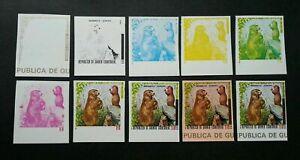 [SJ] Equatorial Guinea Wildlife Wild Animal (color proof stamp set) MNH *rare