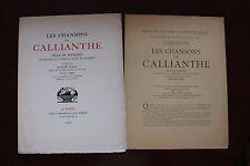 ✒ PROSPECTUS Souscription Madeleine de l'AUBESPINE Callianthe 1923 Léon PICHON