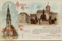 2459: Ansichtskarte Postkarte Berlin Marienkirche Luther Denkmal Klosterstraße