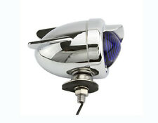 BICYCLE REAR DUMMY LIGHTS BLUE AND CHROME WITH WINGS