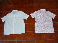 2x Vintage 80s 90s Womens Short Sleeve Blouse / Shirt Katies & Myers