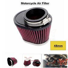 Universal 48mm Inlet CNC Motorcycle Air Filter Cleaner Motor Power ATV Pit Bike