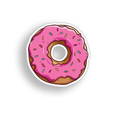 4 inch Donut Sticker Food Doughnut Cooler Laptop Car Vehicle Window Bumper Decal