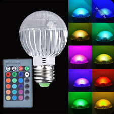 LED15W E27 RGB Light Color Changing Lamp Bulb  + Remote Control Sales 110V