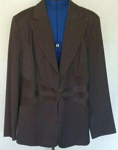 LANE BRYANT Womens Blazer Plus Size 22 Cityology Studio Dark Brown