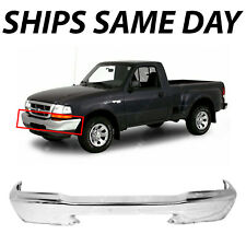 NEW Chrome - Steel Front Bumper Face Bar for 1998 1999 2000 Ford Ranger Truck