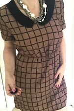 TOKITO CITY WOMENS DRESS CHEKS BROWN BLACK LINED NWT  SZ 12