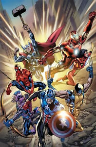 Incredibly Fearless Deluxe Marvel Giclee Canvas Signed by STAN LEE Ltd Ed of 50